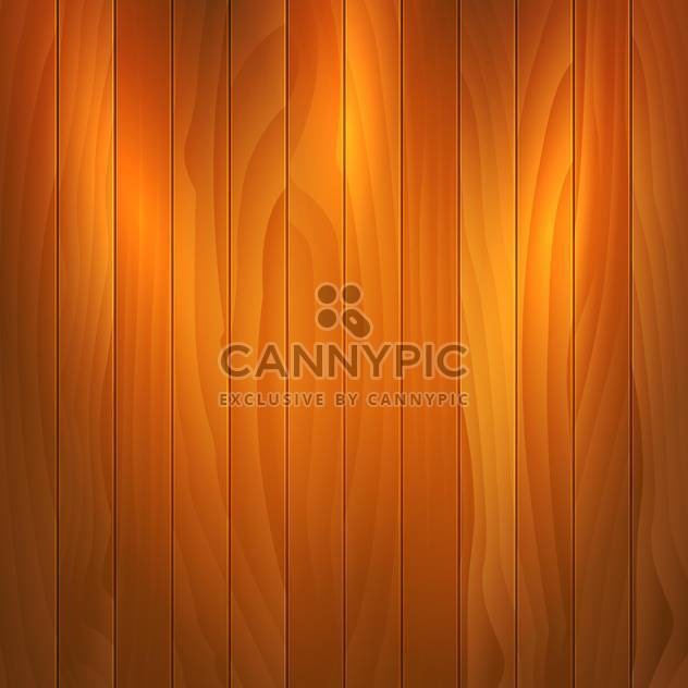 Vector illustration of brown wooden texture background - Free vector #125995