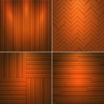 Vector illustration set of brown wooden textures - бесплатный vector #126045