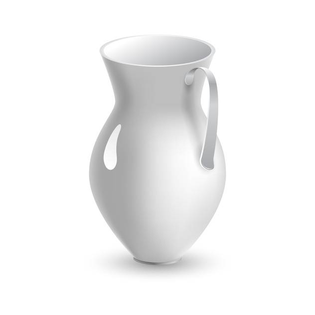 Vector illustration of white pitcher on white background - Free vector #126335