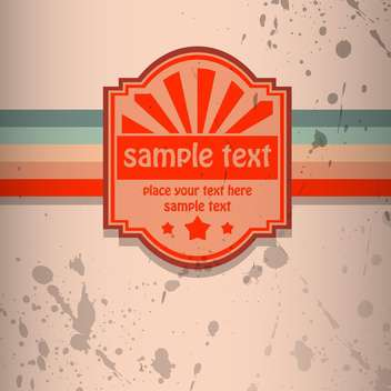 Vector colorful retro background with spray paint signs - vector #126385 gratis