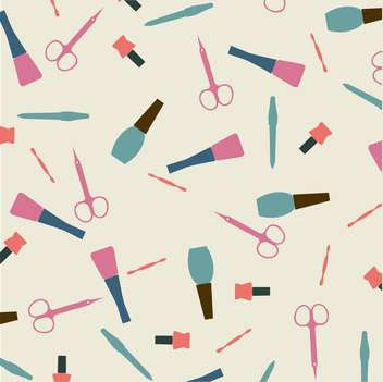 Vector illustration of female colorful manicure collection background - vector gratuit #126435