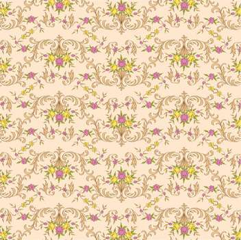 Vector vintage floral beige background with elegance decoration flowers - Free vector #126445