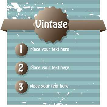 Vector vintage abstract background with text place and paint signs - vector #126475 gratis