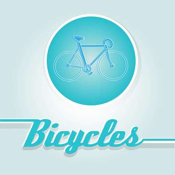 Vector illustration of blue bicycle in circle - vector gratuit #126515