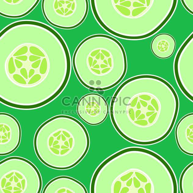 Vector illustration of background with green cucumbers - Free vector #126605