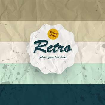 Vector illustration of retro colorful background with paint drops - vector gratuit #126615