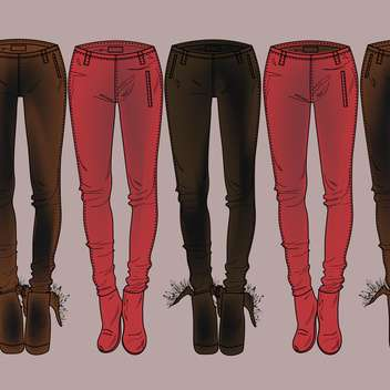 Vector colorful background with fashion pants - vector gratuit #126635