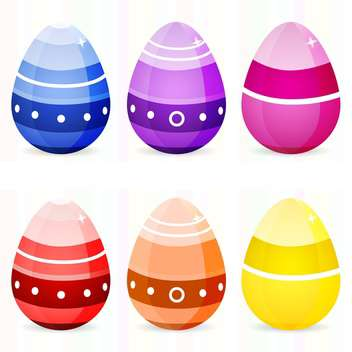 Vector set of easter eggs on white background - vector gratuit #126765
