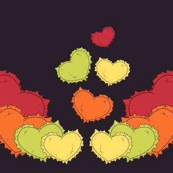 Valentine's day greeting card background with hearts - vector gratuit #126775