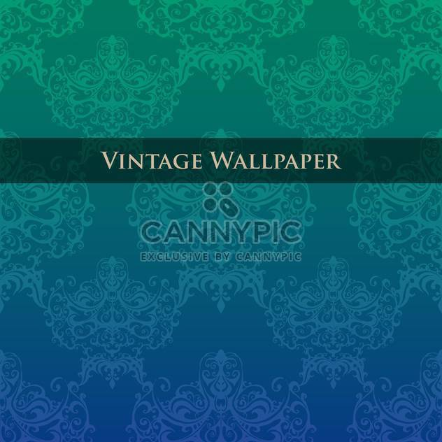 Vector colorful vintage wallpaper with floral pattern - Free vector #126825