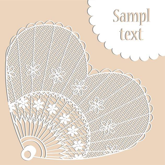 Greeting card with heart shape and sample text - vector gratuit #126875