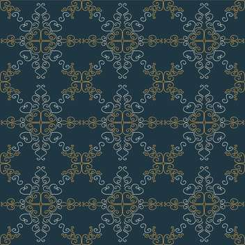 Vector vintage background with floral pattern - Free vector #127115