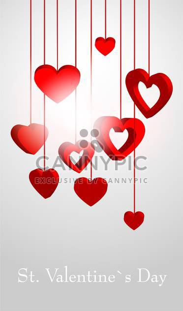 Valentines Day background with love hearts - Free vector #127155