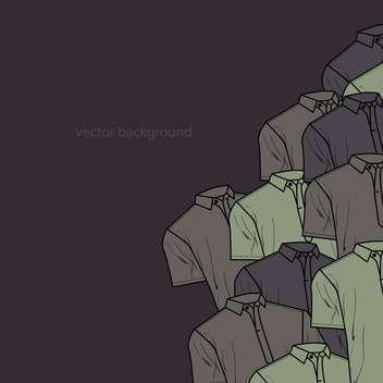 Vector background with male polo t-shirts - Free vector #127175