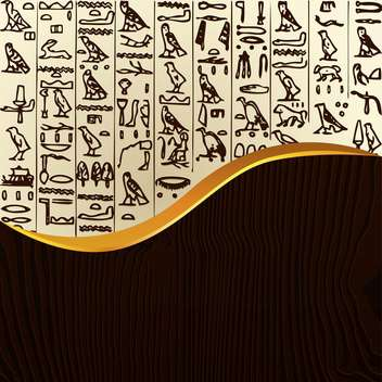 Vector illustration of background with egypt hieroglyphs - vector gratuit #127215