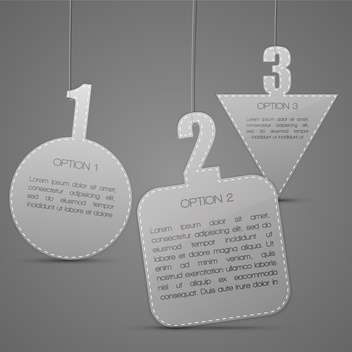 Vector geometric badges on grey background with text place - Free vector #127235