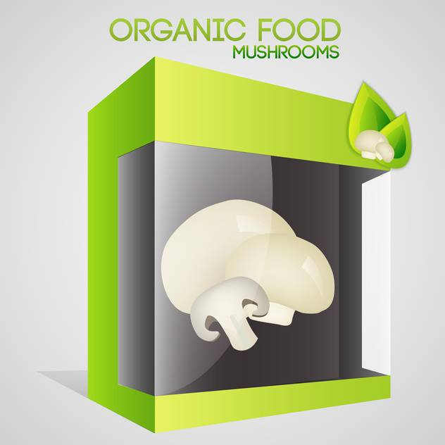 Vector illustration of mushrooms in packaged for organic food concept - vector gratuit #127315