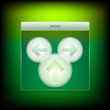 Three green vector arrows - Free vector #127385