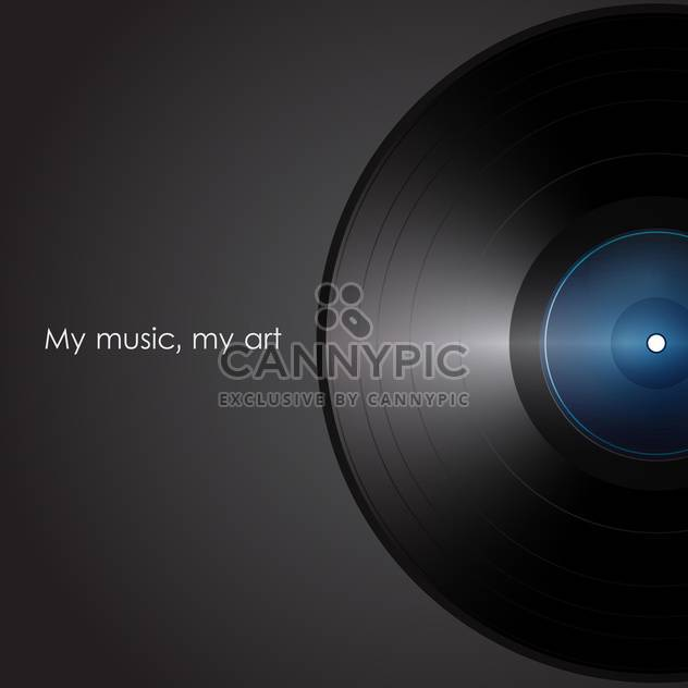 old-fashioned black vinyl on black background with text place - Free vector #127405