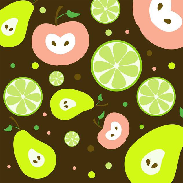 colorful illustration of fruits seamless pattern - vector gratuit #127415
