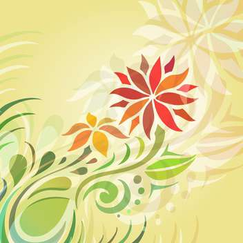 Vector floral background with abstract flowers - vector gratuit #127435