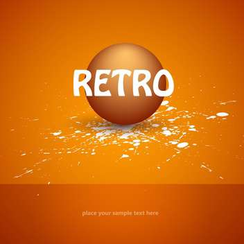 Vector retro background with ball and text place - vector gratuit #127475