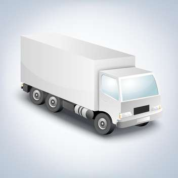 vector illustration of delivery truck on white background - бесплатный vector #127485
