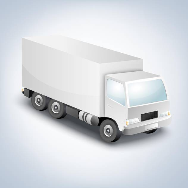 vector illustration of delivery truck on white background - vector gratuit #127485