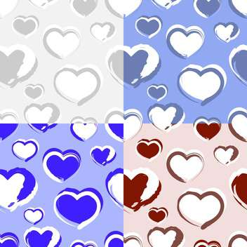 holiday background with love hearts - vector #127565 gratis