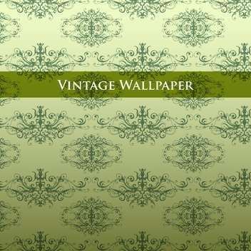 Vector vintage background with floral pattern - vector gratuit #127585