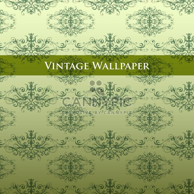Vector vintage background with floral pattern - Free vector #127585