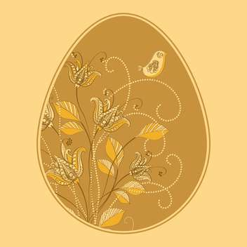 Vector illustration of floral easter egg - бесплатный vector #127615