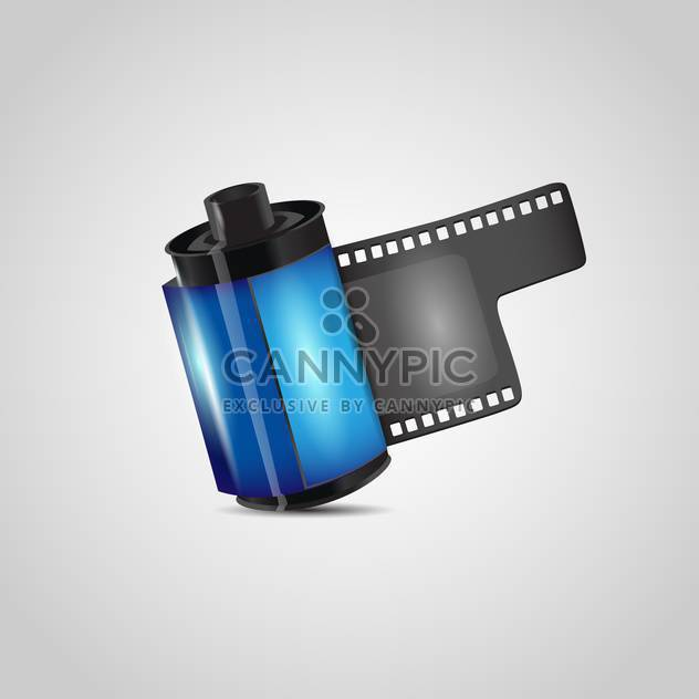 Vector negative photo film roll on grey background - Free vector #127655