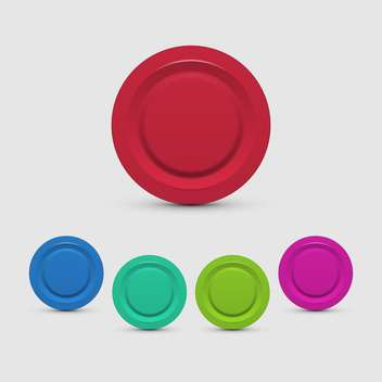 vector set of colorful buttons on white background - Free vector #127695