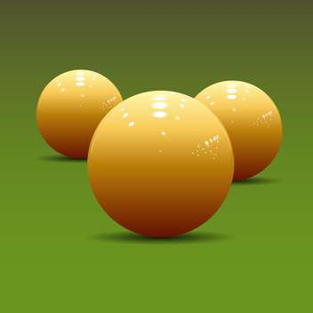 vector illustration of billiard balls on green pool table - Free vector #127995