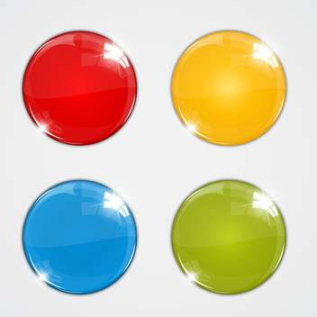 vector set of colorful balls on white background - vector gratuit #128055