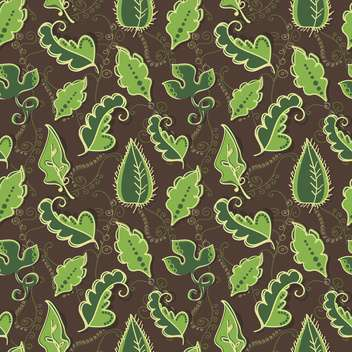 Vector background with green leaves - бесплатный vector #128115