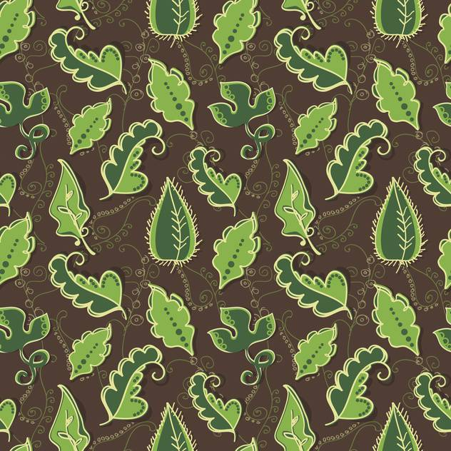Vector background with green leaves - vector gratuit #128115