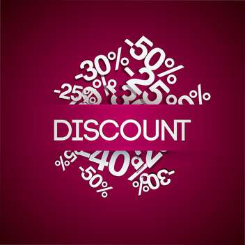 percent discount sale background - vector gratuit #128175