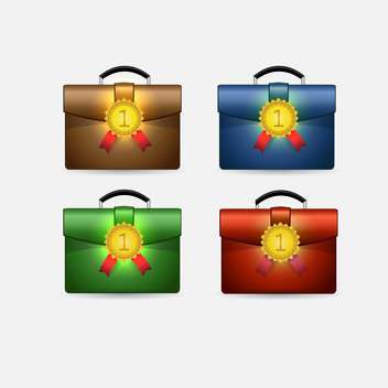Set with school satchels with number one labels - бесплатный vector #128255