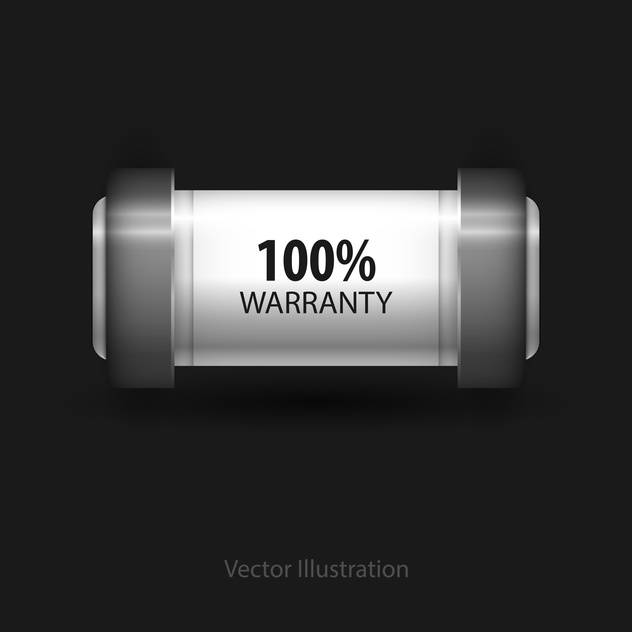 Vector guarantee button on black background - vector gratuit #128285