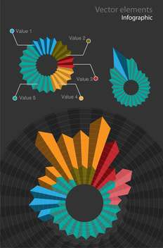 Set with infographic vector elements - Free vector #128295