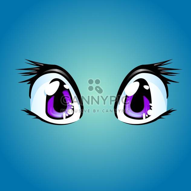 Cartoon eyes vector illustration - Free vector #128335