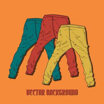 Set with multicolored pants vector icons - Free vector #128365