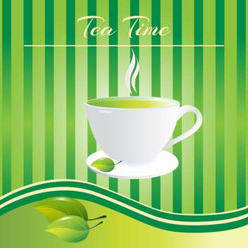 Tea time - Cup of tea background - бесплатный vector #128415