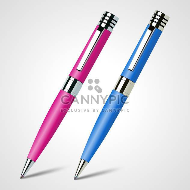 Vector illustration of two pens on white background - Free vector #128445