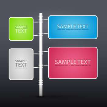 Vector set of design elements with copy space - Free vector #128475