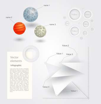 Vector set of Infographic Elements - vector gratuit #128485