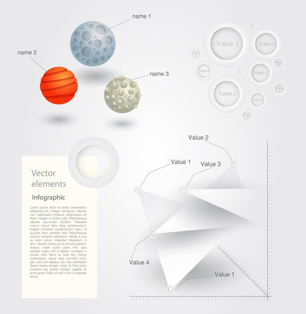 Vector set of Infographic Elements - Free vector #128485