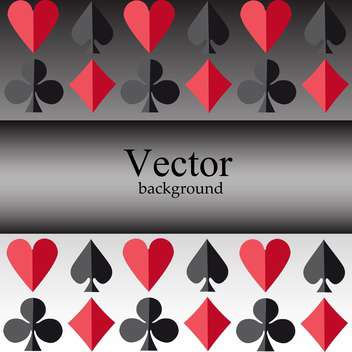 Vector background with card suits - vector #128495 gratis